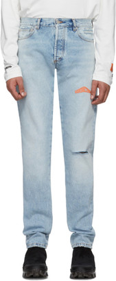 Heron Preston Blue 5-Pocket Jeans