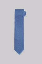 Moss Bros Sky Blue Knitted Silk Tie