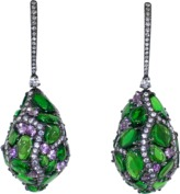 Arunashi Tsavorite Egg Drop Earrings