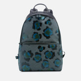 Kenzo Leopard Print Backpack Black Green