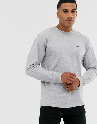Vans small logo long sleeve top in grey