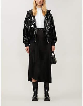 Christian Dior VESTIAIRE funnel-neck faux-leather jacket