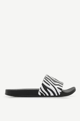 Ardene Zebra Print Pool Slides