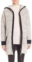 Rag & Bone Adele Contrast Trim Sweater Coat