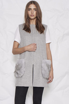 UNREAL FUR Grey Fur Vest