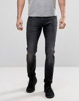 Lee Luke Skinny Jeans Black Ripped