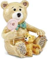 Jere Collections Bejeweled Pewter Two Teddy Bears Trinket Box