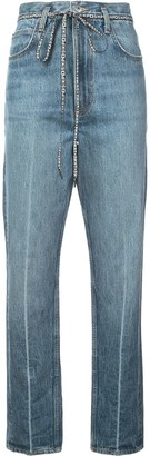Proenza Schouler White Label PSWL Cropped Flare Jeans