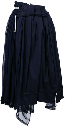 Comme des Garcons Pre-Owned layered gathered midi skirt