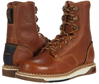 Georgia Boot AMP LT Wedge 8 Soft Toe (Brown) Men's Boots