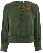 Topshop Snake embellished blouse