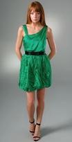 Pleated Puff Dress
