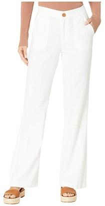 Roxy Oceanside High-Waisted Beach Pants (Sea Salt) Women's Casual Pants