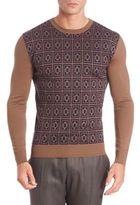 Etro Geometric Patterned Wool Sweater
