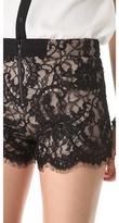 Alice + Olivia High Waisted Lace Shorts