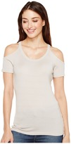 Michael Stars Shine Cold Shoulder Top Women's Clothing