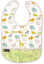 Kushies Cleanbib 12M+ Neutral White Little Safari