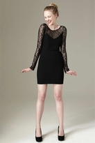 Paper Crown Monet Dress in Black Lace