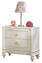 ACME Furniture Dorothy Kids 2-Drawer Nightstand - Ivory - Acme