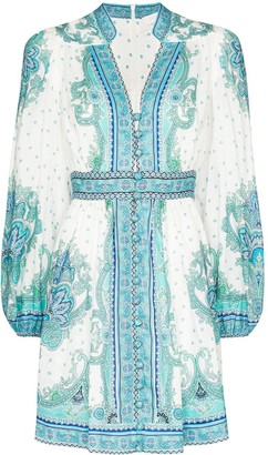 Zimmermann Bells paisley-print mini dress