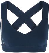 NO KA 'OI No Ka'Oi - Ola Bead-embellished Stretch-jersey Sports Bra - Navy