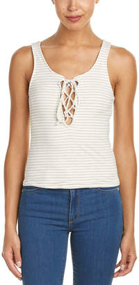 Vintage Havana Stripe Lace-Up Tank