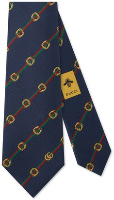 Gucci Stirrupsand Web silk tie