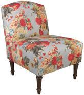 Skyline Furniture Camel Back Chair in Garden Odyssey Fog