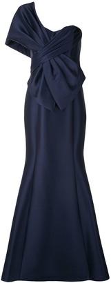 Badgley Mischka Single Shoulder Gown