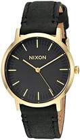 Nixon Men's 'Porter 35 Leather' Quartz Stainless Steel Casual Watch