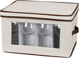 Household Essentials Canvas Balloon Stemware Chest + Trim