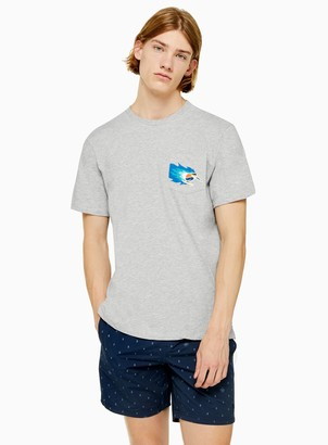 Topman ELEMENT Grey 'Hoffman' Pocket Short Sleeve T-Shirt*