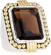 Lagos Emerald-Cut Smoky Quartz Statement Ring, Size 7