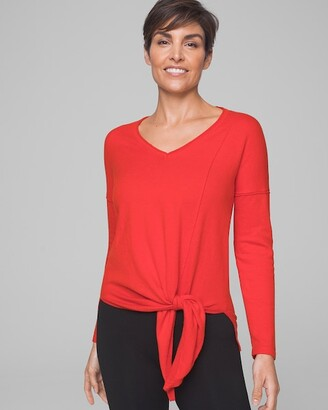 Soma Intimates Long Sleeve Tie Front Sweater