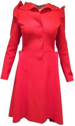 Bottega Veneta Red Wool Coat for Women