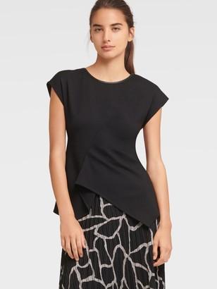 DKNY Women's Sleeveless Origami Top - Black - Size XX-Small