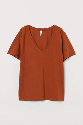 H&M V-neck T-shirt - Orange