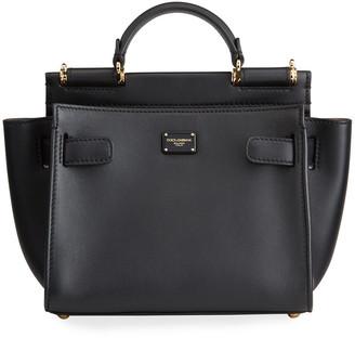 Dolce & Gabbana Sicily Mini Leather Top-Handle Bag