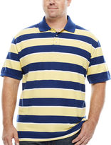 THE FOUNDRY SUPPLY CO. The Foundry Big & Tall Supply Co. Short Sleeve Striped Easy Care Pique Polo