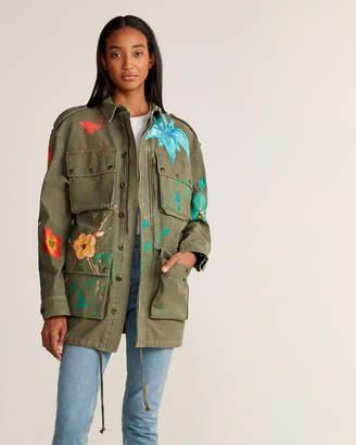 Faith Connexion Paint Splatter Military Jacket
