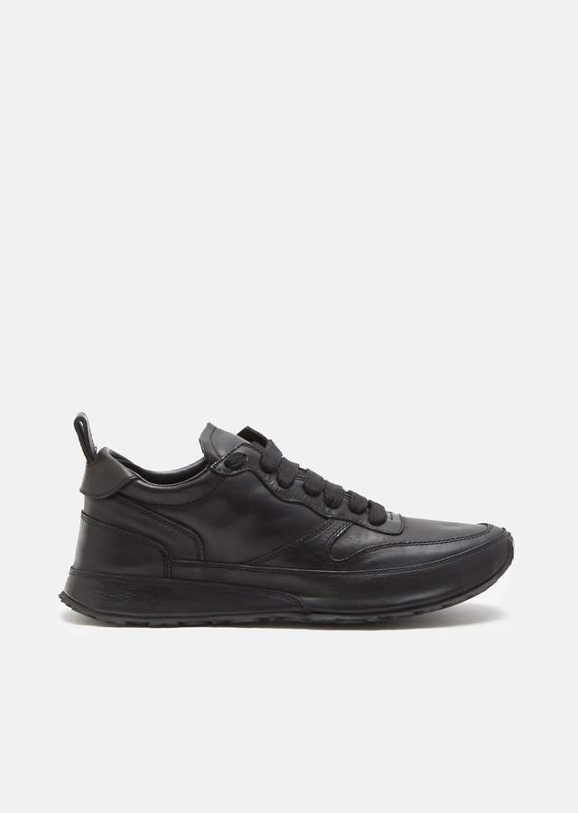 Ann Demeulemeester Calf Leather Lace Up Sneakers Nero