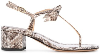 Alexandre Birman snakeskin effect T-bar sandals