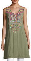 Johnny Was Dita Embroidered Long Tunic, Plus Size