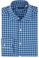 Finamore Men's Checked Cotton Poplin Shirt