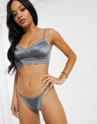Cosabella Madeline string thong in platinum