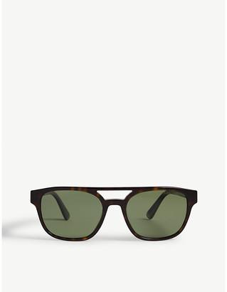Prada PR23V square-frame Havana sunglasses