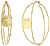 Robert Lee Morris Gold Overlap Hoop Earrings