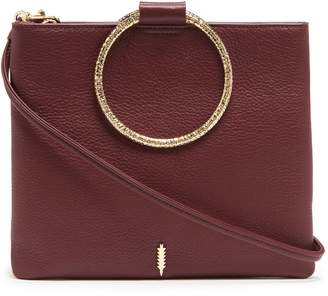 THACKER Le Pouch Hammered Ring Handle Leather Crossbody Bag