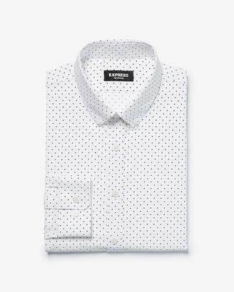 Express Classic Polka Dot Wrinkle-Resistant Performance Dress Shirt