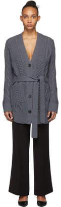 Proenza Schouler Grey Robe Cardigan
